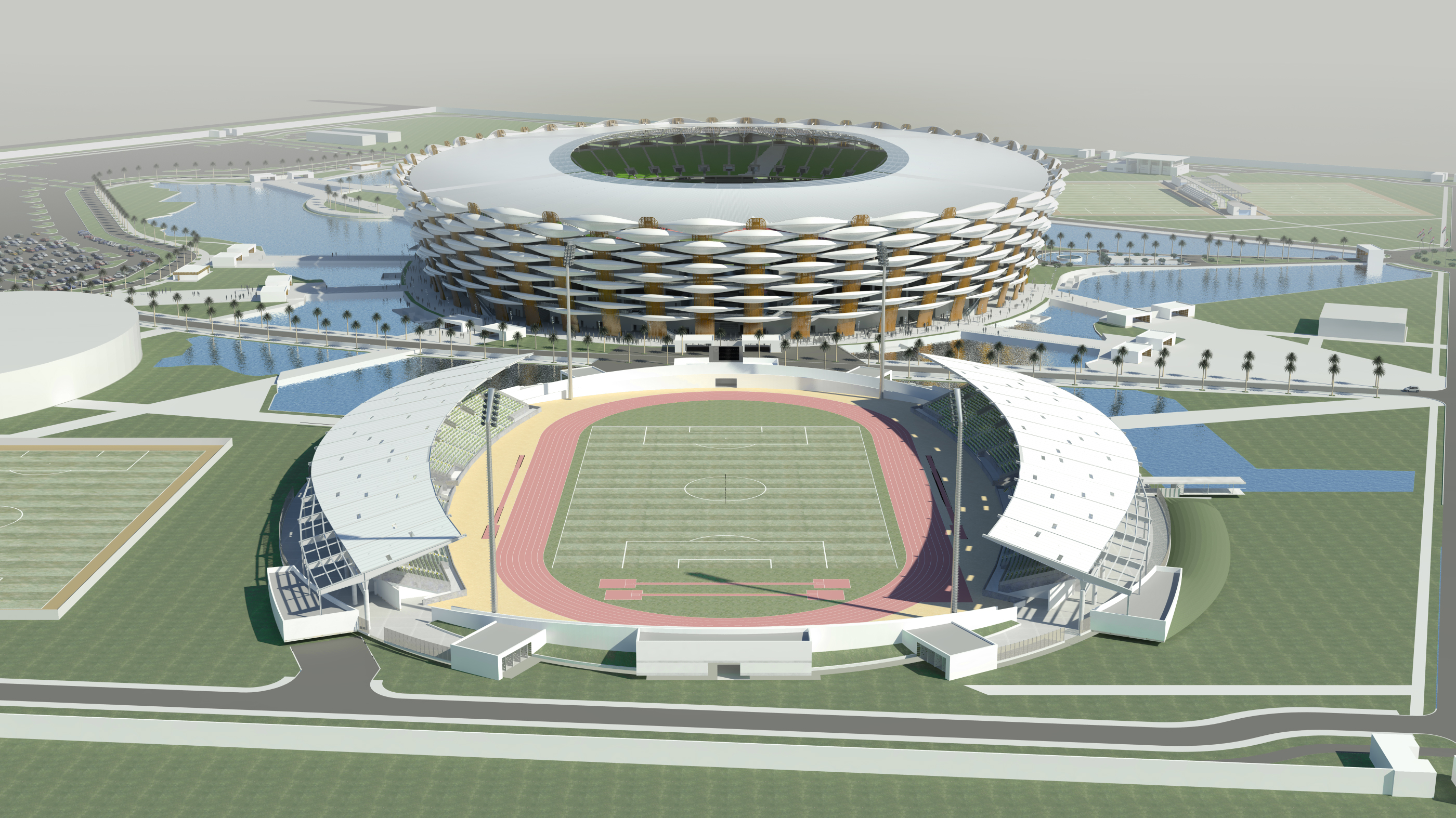 Iraq - Google Earth 3D Aerial View Stadium Backgrounds Megapack