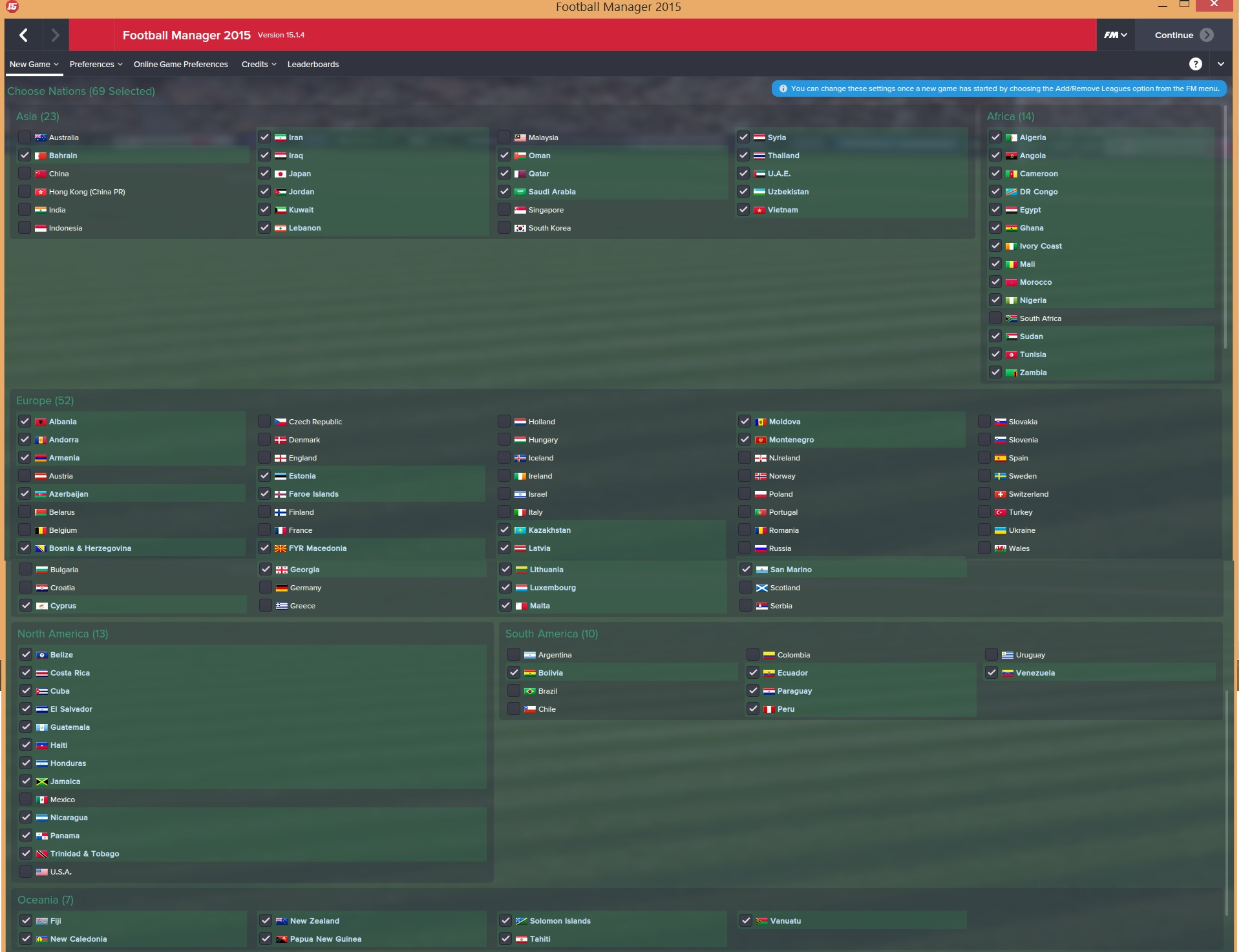 FM2015 Leagues Megapack - 75 new leagues for Football